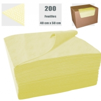 Feuille absorbante - Voile renfort 1 face JAUNE